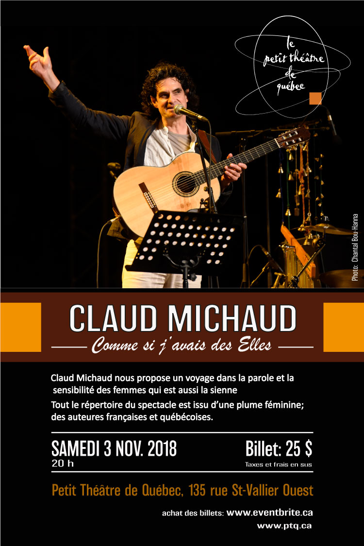 Poster du spectacle de Claud Michaud