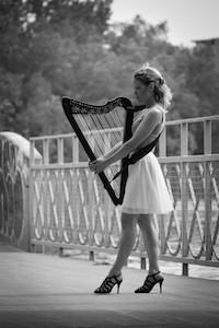 Harpiste Sonia Joannette