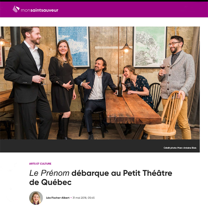 photo le prenom au petit theatre quebec